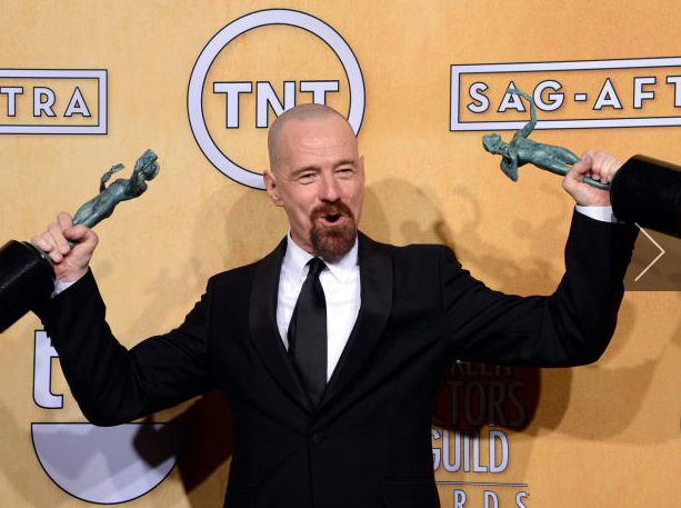 "Actor Bryan Cranston takes home 2 SAG Awards for ""Argo"" and ""Breaking Bad"""