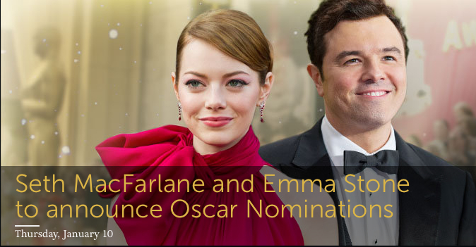 Seth McFarlane and Emma Stone  Announce 84th Annual Academy Award Nominations