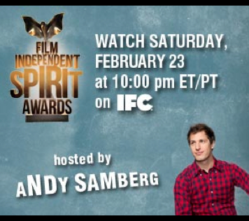 SNL's Andy Samberg is gonna let it rip at the Independent Spirit Awards