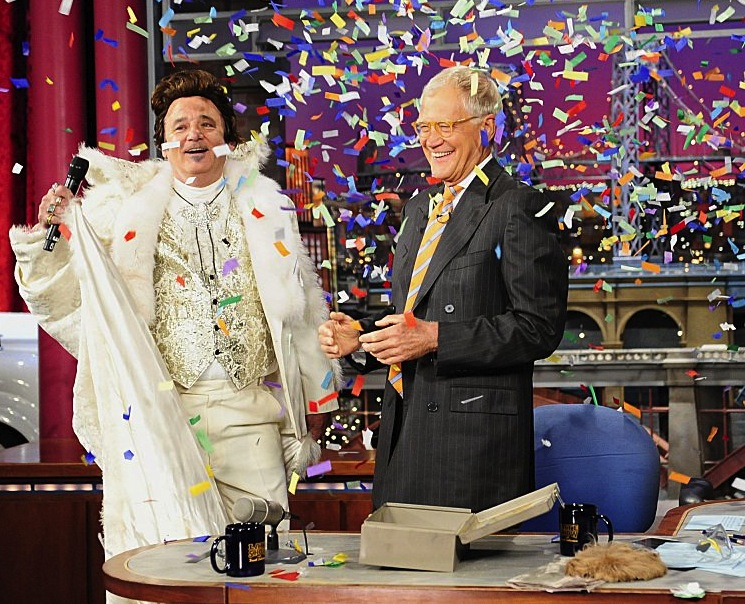 "The ""Late Show with David Letterman"" 20th Anniversary show with Bill Murray, Thursday August 29, 2013 on CBS."