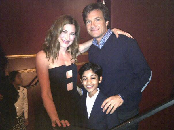 "The 3 Stars of ""Bad Words"" the Jason Bateman directorial debut with Kathyrn Hahn and Rohan Chand at TIFF 2013"