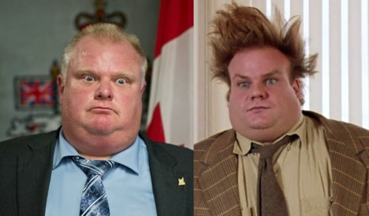 "At Least Chris Farley Would Be Lovable as Toronto Mayor Ford (image supplied by ""Geeksofdoom"")"