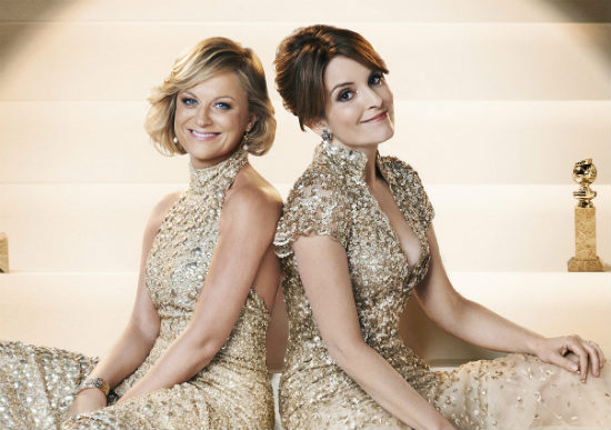 2014 Golden Globes Co-Hosts Amy Poehler and Tina Fey