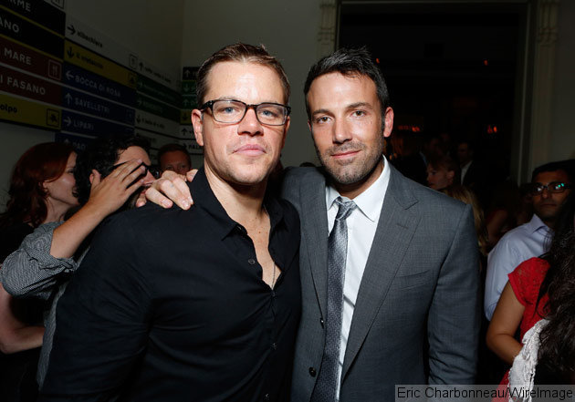 Longtime Pals Matt Damon and Ben Affleck confirmed among Presenters at the 71st Annual Golden Globes, 8PM on NBC Sunday January 12, 2014 (photo credit: Eric Charbonneau)